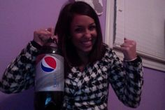 Who wouldn't be this happy with Diet Pepsi in hand?