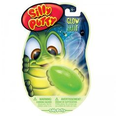 Silly Putty Glow is classic Silly Putty that glows in the dark.
