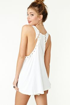 Lace It Tank - Ivory in Clothes Tops at Nasty Gal