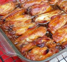 """Caramelized Baked Chicken: """"So easy to put together and very yummy. I wouldn't leave anything out! I have served these as an appetizer with both a sweet-and-sour dip and a spicy chili dip, and it was delicious."""" -Logan's Mommy"""