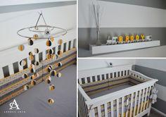 Andrea Arch: Yellow + Grey Gender Neutral Nursery