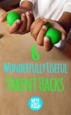 6 Wonderfully Useful Parent Hacks #parenthacks #hacks #kids