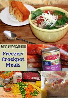 Crockpot Freezer Meal Recipes http://madamedeals.com/crockpot-freezer-meals/ #recipes #inspireothers