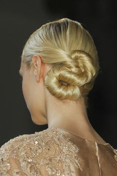 Twisted Bun updo hair style @ElieSaabWorld Elie Saab Spring Summer Couture 2013 #HauteCouture #HC