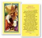 St. Veronica Laminated Laminated Prayer Cards 25 Pack