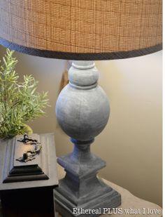 Faux zinc Lamp