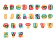 Colorful Alphabet by David Pacheco
