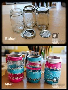 Doodling on Mason Jars by Tracy Weinzapfel