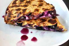 Blueberry Breakfast Quesadilla | Food is my friend