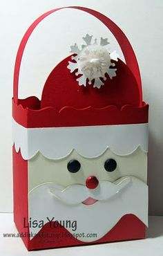 Stampin' Up!  Fancy Favor Box  Lisa Young  Christmas  Santa