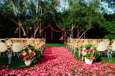 a fuchsia petal aisle | Photography by docuvitae.com |  Event Planning + Design by bashplease.com |  Floral Design by brownpaperdesign.com |  Read more - http://www.stylemepretty.com/2013/06/24/palm-springs-wedding-from-docuvitae-bash-please/