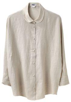 fashion, chemises, white shirts, linen shirt, peter pan collars, blous, linens, acn shirt, acne shirt