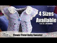 Crochet Baby Petal Sweater Tutorial