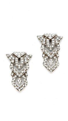 Ben-Amun Crystal Geometric Drop Earrings