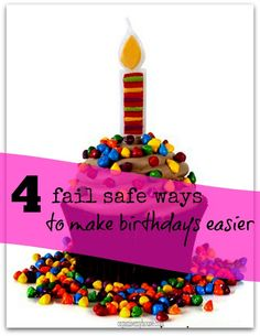 4 fail safe ways to make other peoples birthdays easier for you - via www.organisemyhouse.com
