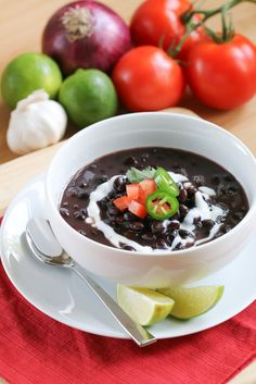 Cuban Black Bean Soup | foodnfocus.com