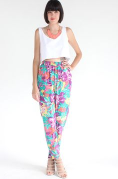 gorgeous Silk Floral Pants (S)