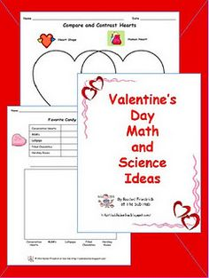 Math and science activities for Valentine's Day with reproducibles. subhubonline.blogspot.com