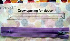 Tutorial: Zipper pocket (messenger bag & jordy bag) - PURSES, BAGS, WALLETS