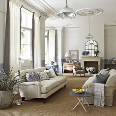sisal carpet interior, living rooms, living room styles, color schemes, living room ideas, high ceilings, light fittings, live room, curtain
