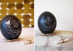 Chalkboard Easter Eggs  #Easter