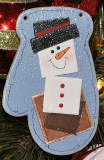 Megpie Designs: S'more Snowman Ornament