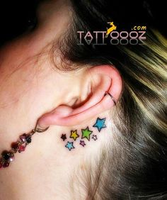 small tattoos on ear .. By this womens looks very pretty for more cute designs visit http://tattoooz.com/c/small-tattoos/