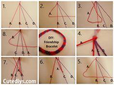 How to make a friendship bracelet Cutediys.com