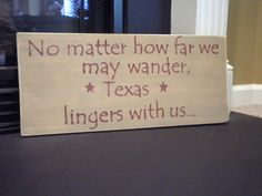 I miss you Texas...
