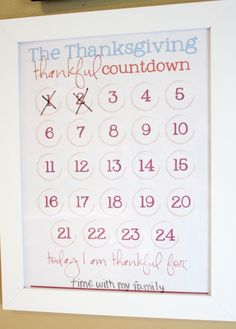 countdown dry erase frame - could do this for so many holidays or events!