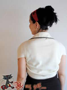 Really Simple Bolero Tutorial - Step-by-Step Pictures at BeMyGoth.com