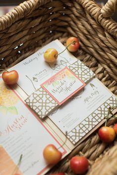 fall wedding invitations, photo by Virgil Bunao http://ruffledblog.com/william-aiken-house-wedding #weddinginvitations #stationery