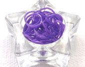 Purple Light Shimmer Metallic Rainbow Loom Refill Bands, 50 Silver LS Metallic Bands, Unique New Shimmer Metallic Color!
