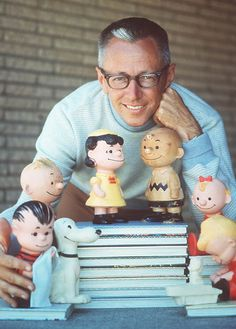 Charles Schulz and The Peanuts gang