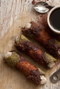 Cannoli -   pistachio, chocolate, ricotta