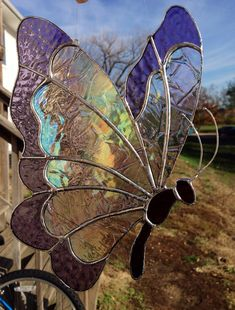 Made-to-Order Butterfly Stained Glass Sun Catcher on Etsy, $35.00