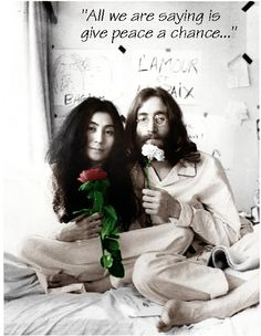 """Love John & Yoko, love my """"Give Peace a Chance"""" ring tone.  Most of all, love the sentiment!"""