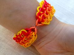 Rainbow Loom bracelet made from rubber bands by ArtyCraftyStudio