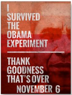 What America will be saying on November 6th:  I survived the Obama Experiment.