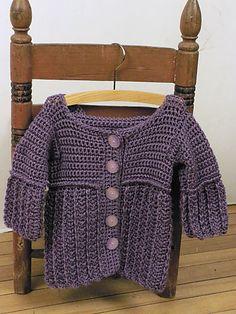 Free Crochet Pattern: Hooded Toddler Jacket