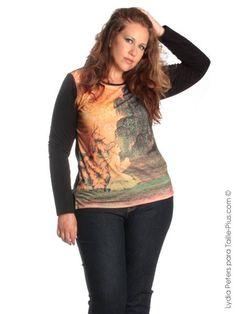 Lydia Peters modelo de tallas grandes para Taille-plus.com : hadas del bosque