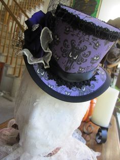 wickedthreads58, hm hat, etsi, haunt mansion, top hats, custom order, mansions
