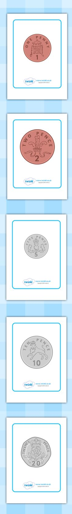 Twinkl Resources >> British Coin Display Posters >> Printable resources for Primary, EYFS, KS1 and SEN.  Thousands of classroom displays and teaching aids! Counting, Money, Coins, Numeracy, Currency, Maths
