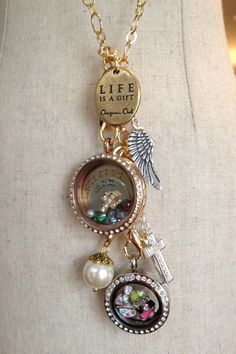 Layered lockets....Love this look!! Shop, Host or Join my team! Designer/Mentor # 17958