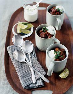 spicy heirloom bean chili on domino.com