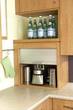 open shelves, kitchen storage, appliances, garages, storage organization, door, kitchen corner, kitchen remodel, applianc garag