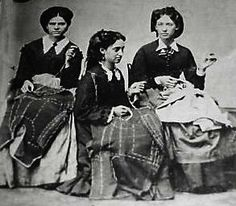 Civil War era  women sewing