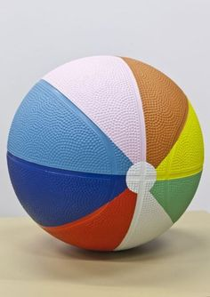 Painted Basketball.....fun by the pool or beach!