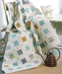 Check out 3 Squared by Tony Jacobson. Simplicity and a great splash of color . Instructions in the Summer issue of Easy Quilts!  http://www.fonsandporter.com/issues/Easy_Quilts_Summer_2012