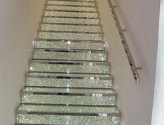 stairs.This would work in my modern house. Beautiful...is it slippery?......